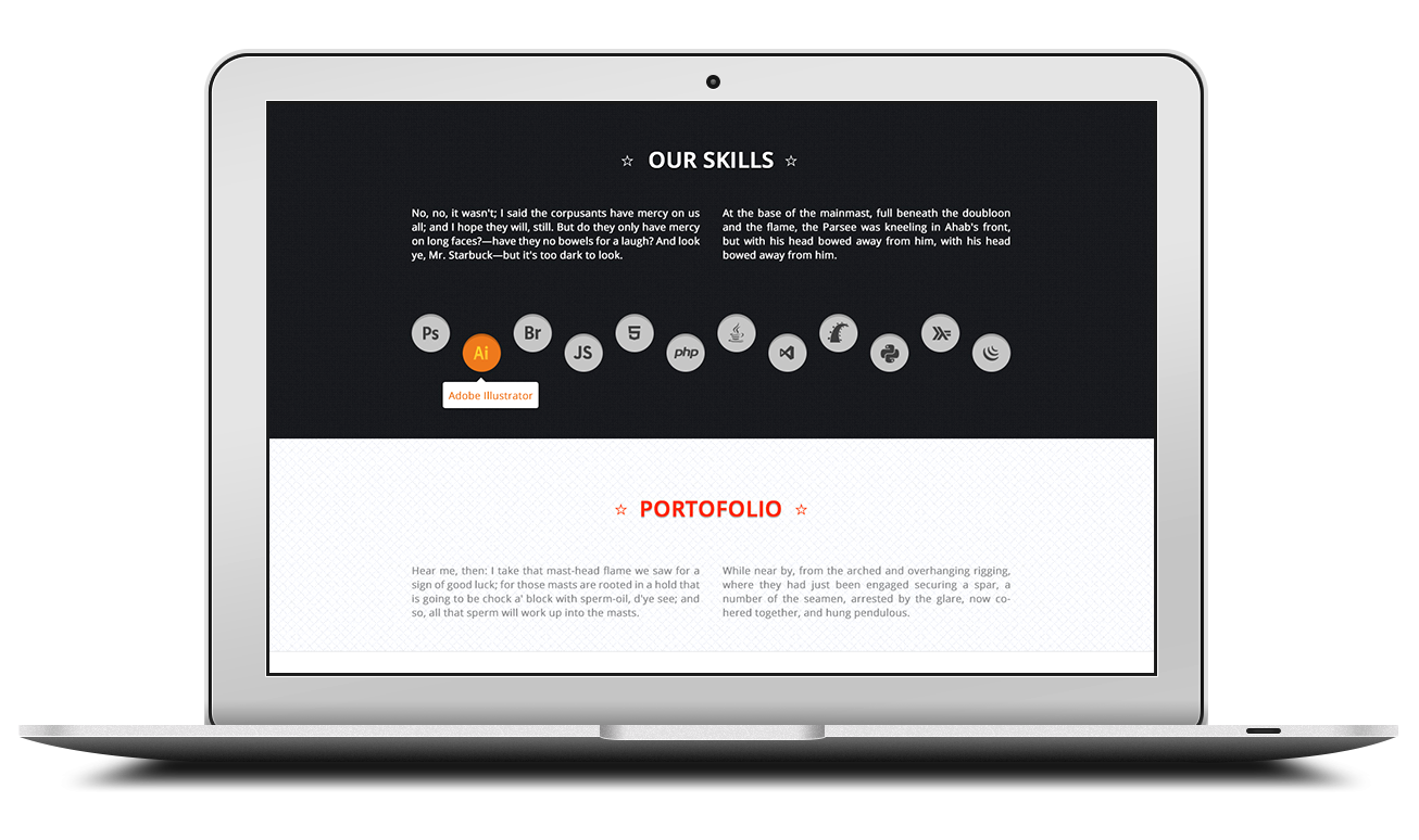 focused - OnePage Responsive PSD Template